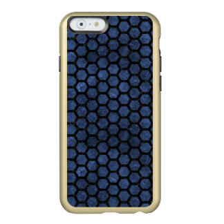 HEXAGON2 BLACK MARBLE & BLUE STONE (R) INCIPIO FEATHER® SHINE iPhone 6 CASE