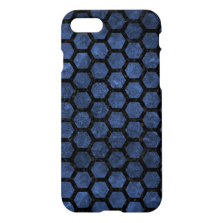HEXAGON2 BLACK MARBLE & BLUE STONE (R) iPhone 8/7 CASE
