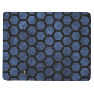 HEXAGON2 BLACK MARBLE & BLUE STONE (R) JOURNAL