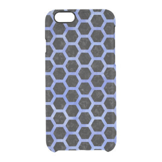 HEXAGON2 BLACK MARBLE & BLUE WATERCOLOR CLEAR iPhone 6/6S CASE