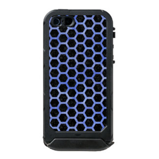 HEXAGON2 BLACK MARBLE & BLUE WATERCOLOR INCIPIO ATLAS ID™ iPhone 5 CASE