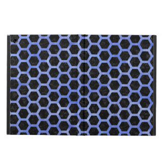 HEXAGON2 BLACK MARBLE & BLUE WATERCOLOR iPad AIR CASE