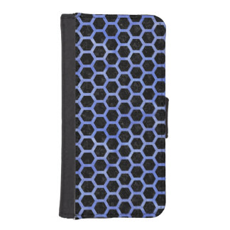 HEXAGON2 BLACK MARBLE & BLUE WATERCOLOR iPhone SE/5/5s WALLET CASE