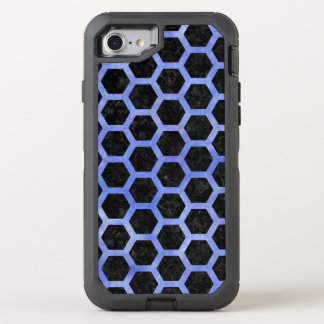 HEXAGON2 BLACK MARBLE & BLUE WATERCOLOR OtterBox DEFENDER iPhone 8/7 CASE