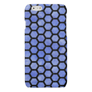 HEXAGON2 BLACK MARBLE & BLUE WATERCOLOR (R)