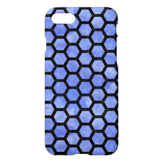 HEXAGON2 BLACK MARBLE & BLUE WATERCOLOR (R) iPhone 8/7 CASE