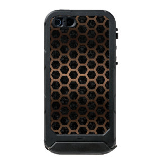 HEXAGON2 BLACK MARBLE & BRONZE METAL INCIPIO ATLAS ID™ iPhone 5 CASE