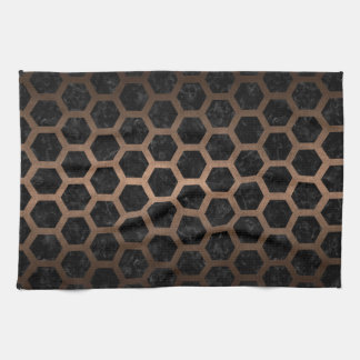 HEXAGON2 BLACK MARBLE & BRONZE METAL KITCHEN TOWEL