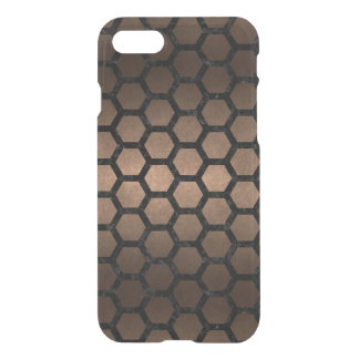 HEXAGON2 BLACK MARBLE & BRONZE METAL (R) iPhone 8/7 CASE