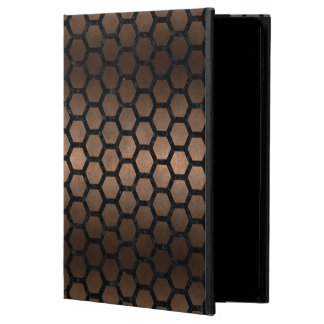HEXAGON2 BLACK MARBLE & BRONZE METAL (R) POWIS iPad AIR 2 CASE