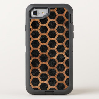 HEXAGON2 BLACK MARBLE & BROWN STONE OtterBox DEFENDER iPhone 8/7 CASE