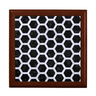 HEXAGON2 BLACK MARBLE & WHITE MARBLE GIFT BOX