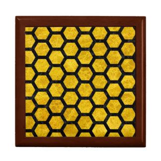 HEXAGON2 BLACK MARBLE & YELLOW MARBLE (R) GIFT BOX