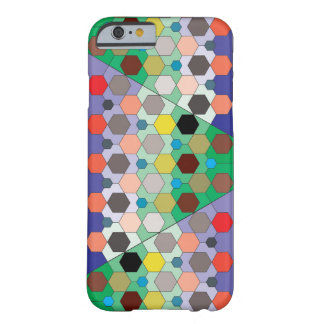 Hexagon Color Mosaic Barely There iPhone 6 Case
