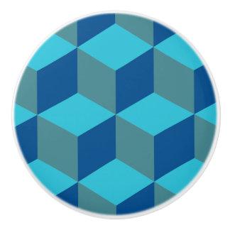 Hexagon Design-Monochrome Turquoise-Drawer Knob