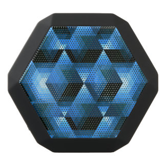 Hexagon Geo Pattern Black Bluetooth Speaker