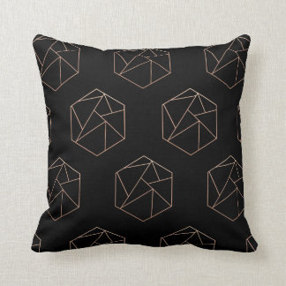 Hexagon geometric pillow