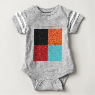 hexagon pattern baby bodysuit
