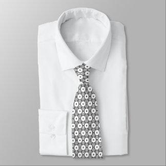 hexagon pattern graphic design black and white tie