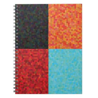 hexagon pattern notebook