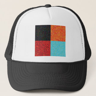 hexagon pattern trucker hat