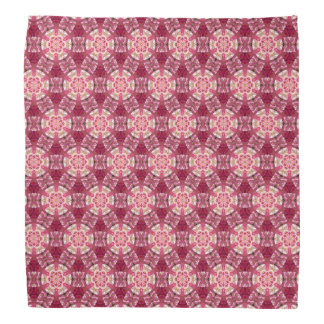 Hexagon red flower bandana