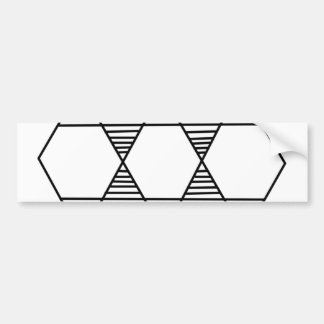 Hexagon Star Bumper Sticker