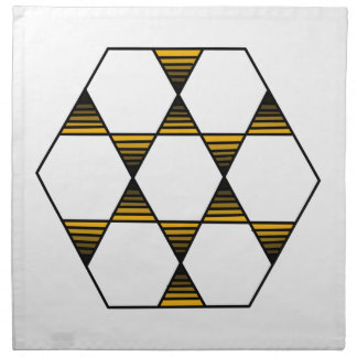 Hexagon Star Gold Napkin