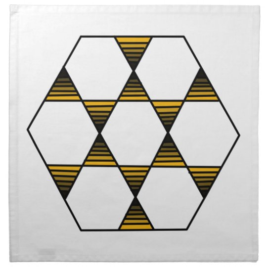 Hexagon Star Gold Printed Napkins