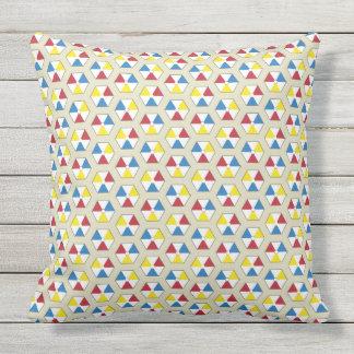 Hexagonal Beach Balls Throw Pillow