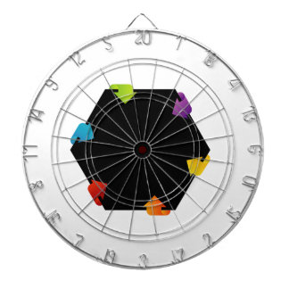 Hexagonal design element dartboards