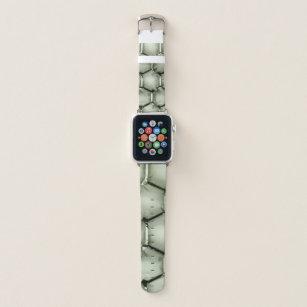 Hexagonal green bubble textured background apple watch band