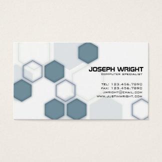 Hexagons - Blue Business Card