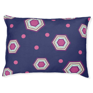 Hexagons Blue Dog Bed Large Dog Bed