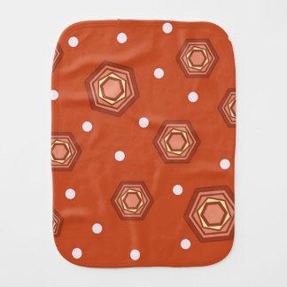 Hexagons Burnt Orange Baby Burp Cloth