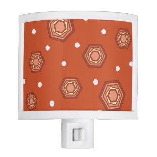 Hexagons Burnt Orange Night Light