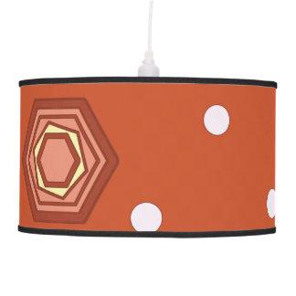 Hexagons Burnt Orange Pendant Lamp