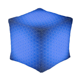 Hexagons decor pouf