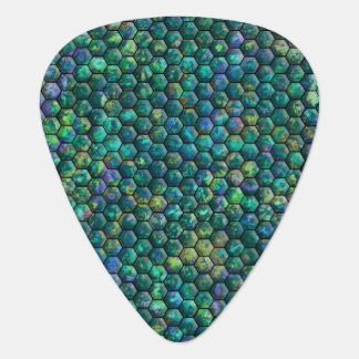 Hexagons Guitar Pick