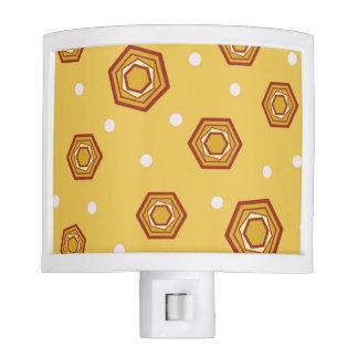 Hexagons Yellow Night Light