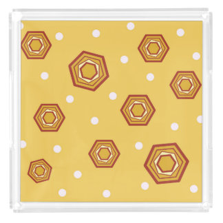 Hexagons Yellow Tray