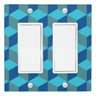 Hexagram - Monochrome Turquoise - Light Switch