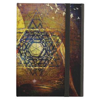 Hexagram sacred geometry symbol cover for iPad air