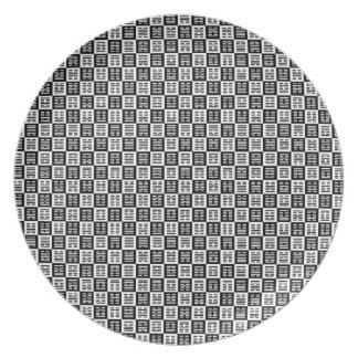 Hexagrams pattern dinner plates