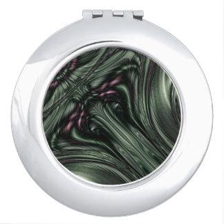 Hexed Digital Fractal Design Compact Mirror