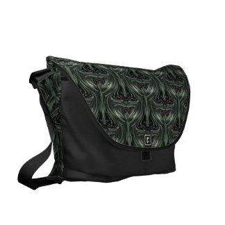 Hexed Digital Fractal Design Messenger Bags