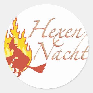 Hexennacht Round Sticker