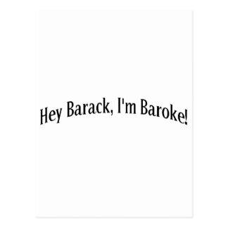 Hey Barack, I'm Baroke! Postcard