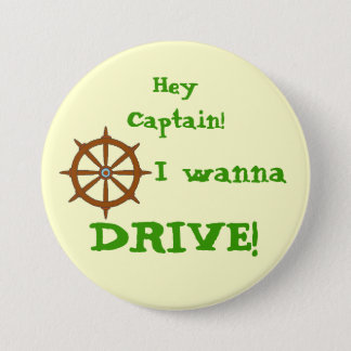 Hey Captain Yellow 3 Inch Round Button