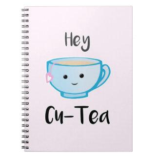 Hey Cu-Tea Spiral Notebook